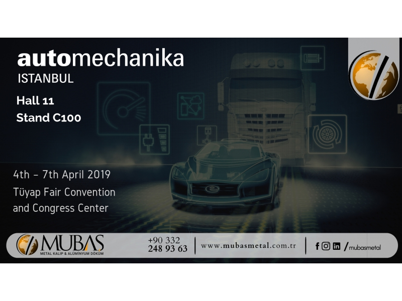 We take our place in AutoMechanika Istanbul.